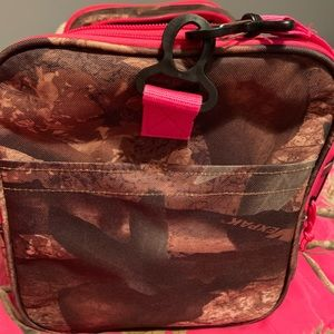 Pink camouflage traveling bag